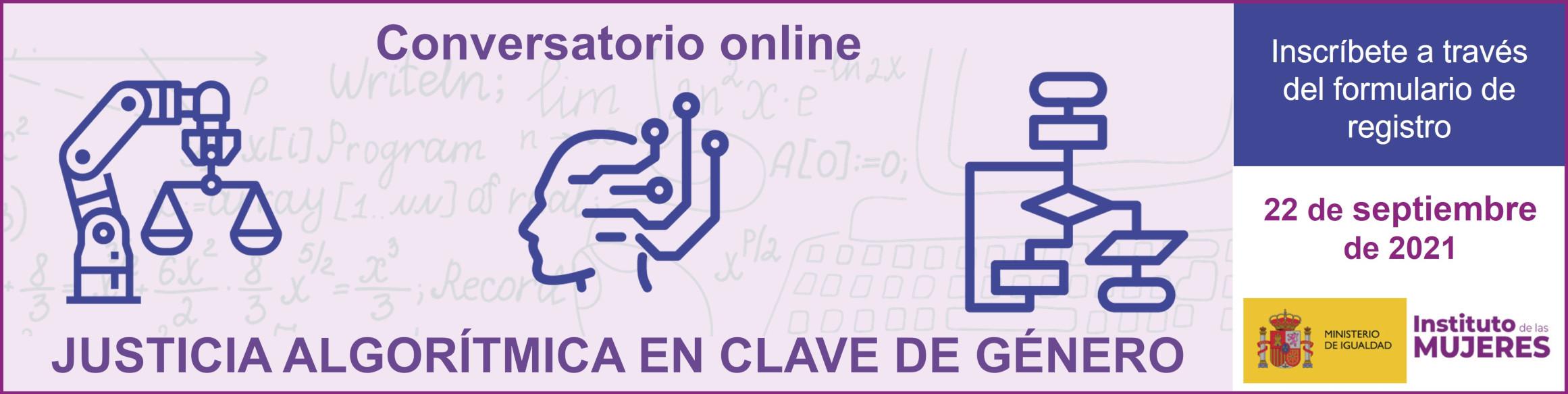 Seminario Justicia Algorítmica. Instituto de las Mujeres